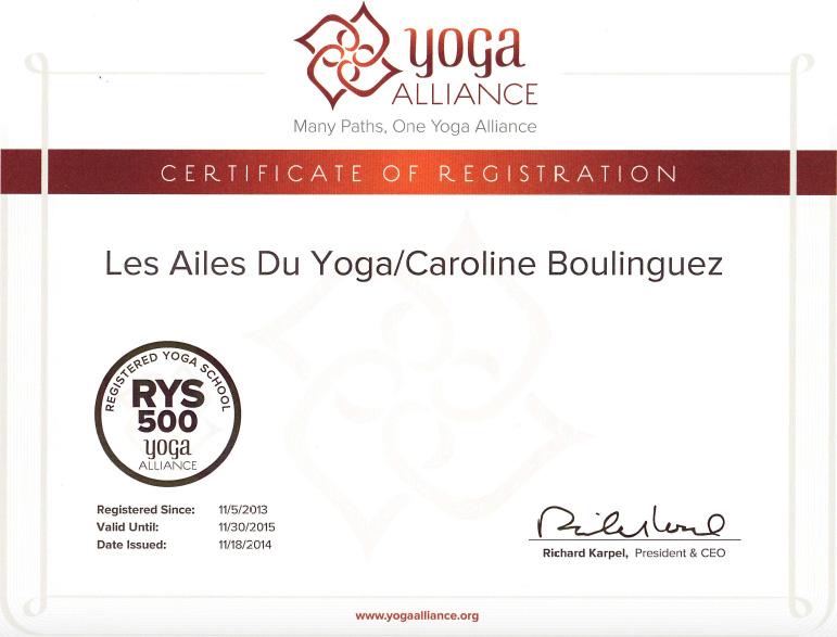 diplôme Caroline BOulinguez