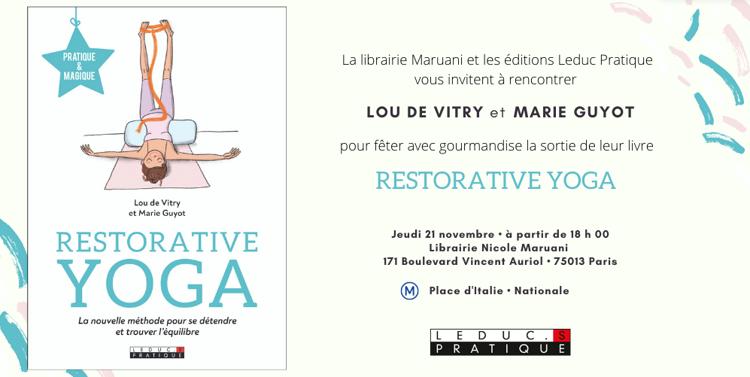 Signature livre : Restorative yoga