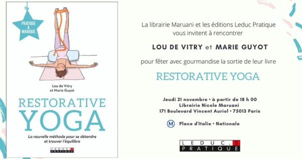 Livre : «Restorative Yoga» – aux éditions LEDUC